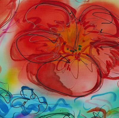 Painting - Medium Flower 2 by Barbara Pease