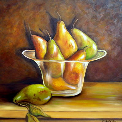 Painting - Medley Of Pears. Sold by Susan Dehlinger