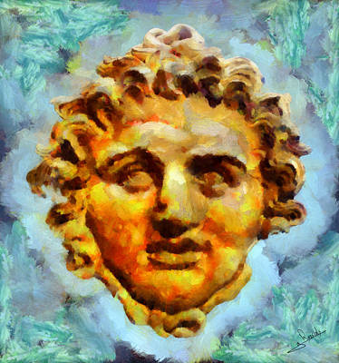 Statue Portrait Painting - Medousa by George Rossidis