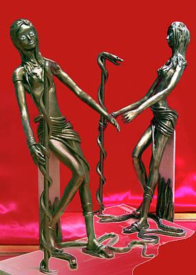 Modeling Clay Sculpture - Medusa 2  by Yelena Rubin