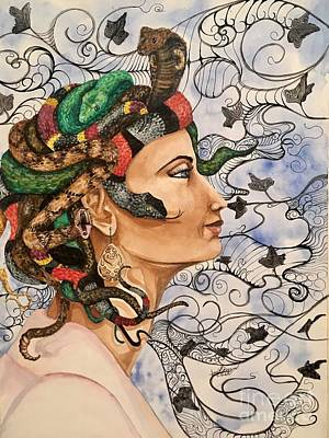 Cobra Mixed Media - Medusa by Amy Brown