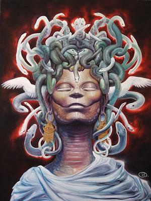 Gorgon Painting - Medusa by Brian Harker