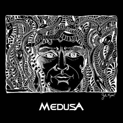 Medusa Drawing - Medusa Design by John Keaton