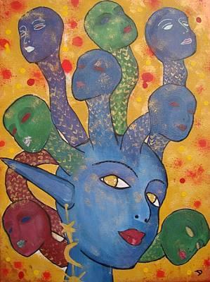 Medusa Art Print by Diana Chitu