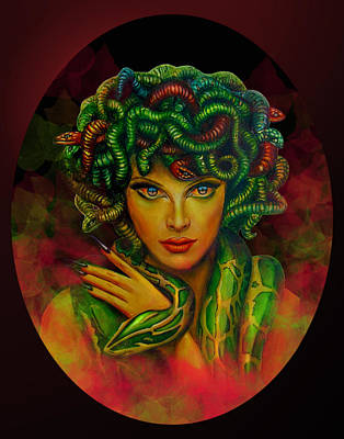 Digital Art - Medusa - Greek Mythology By Richa Malik by Richa Malik