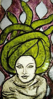 Kilnformed Glass Art - Medusa by Jennifer Frangi
