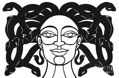 Gorgon Drawing - Medusa by Jennifer Kuhns