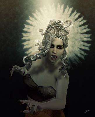 Gorgon Digital Art - Medusa by Joaquin Abella
