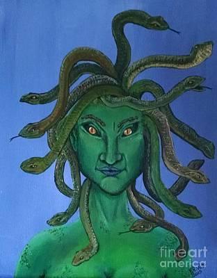 Gorgon Painting - Medusa by Kimberly Witz