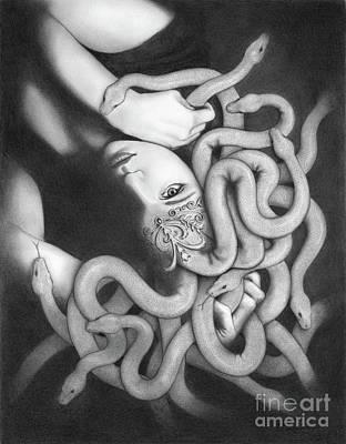 Drawing - Medusa by Mayumi Ogihara
