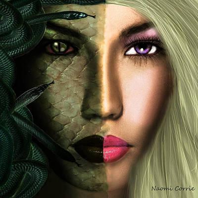 Medusa Digital Art - Medusa by Naomi Corrie