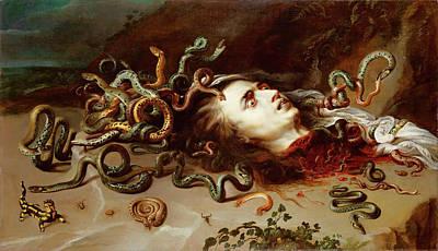 Gorgon Wall Art - Painting - Medusa by Peter Paul Rubens
