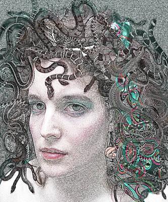 Gorgon Digital Art - Medusa - Portrait Of A Monster by Rayanda Arts