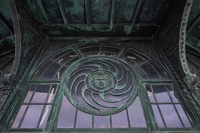 Photograph - Medusa Window Carousel House Asbury Park Nj by Terry DeLuco