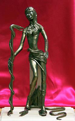 Modeling Clay Sculpture - Medusa by Yelena Rubin