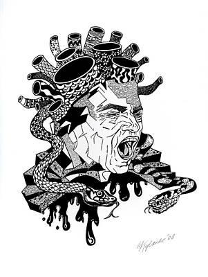 Drawing - Medusa by Yelena Tylkina