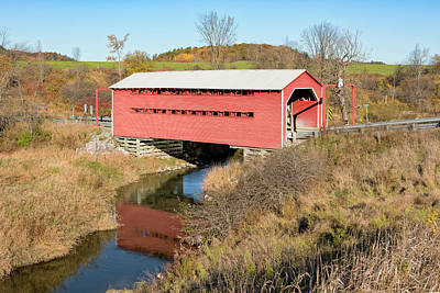 Photograph - Meech Creek Covered Bridge by Eunice Gibb