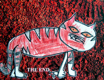 Mixed Media - Meeow by Sarah Hornsby