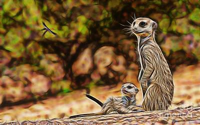 Meerkat Art Print by Marvin Blaine