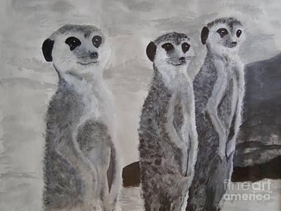 Meerkats 3 Original by Martin Bond