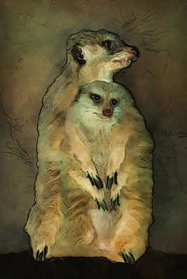 Meerkat Mixed Media - Meerkats by Jack Zulli