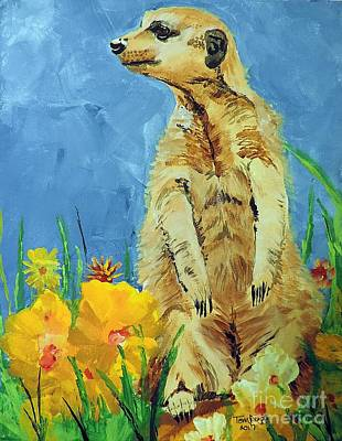 Painting - Meerly Curious by Tom Riggs