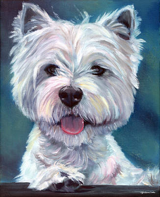 Westie Dog Painting - Meet And Greet - West Highland Terrier by Lyn Cook