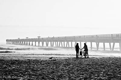 Photograph - Meet At The Pier by Phyllis Peterson