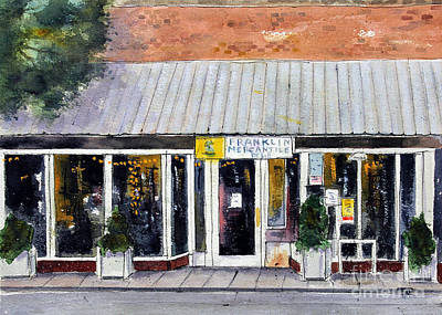 Franklin Tennessee Painting - Meet Me At The Merc by Tim Ross