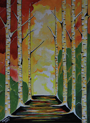 Painting - Meet Me By The Birches by Kathleen Sartoris