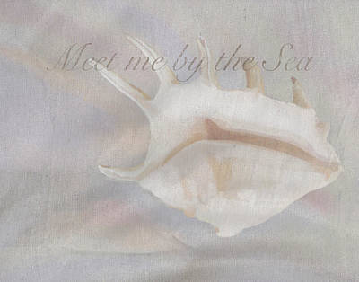Coastal Quote Wall Art - Painting - Meet Me By The Sea by Brad Burns