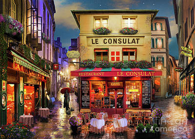 Evening Digital Art - Meet Me In Paris by David Maclean