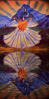 Painting - Meet Me On The Mountain Reflections II by Anastasia Savage Ealy