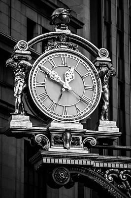 Meet Me Under The Clock Bw Art Print by John Duffy