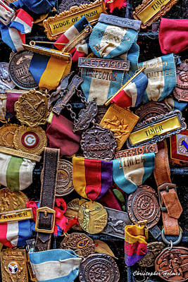 Print featuring the photograph Meet Medals by Christopher Holmes
