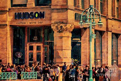 Digital Art - Meet You At Hudson's by David Blank