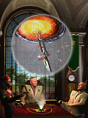 3d Art Digital Art - Meeting At The Papal Residence by Jim Coe