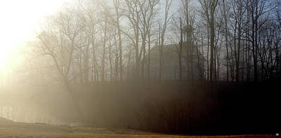 Photograph - Meeting House At Dawn by John Meader