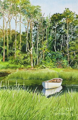 Painting - Meeting House Pond by Karol Wyckoff