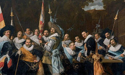 Painting - Meeting Of The Officers And Sergeants Of The Calivermen Civic Guard  by Frans Hals