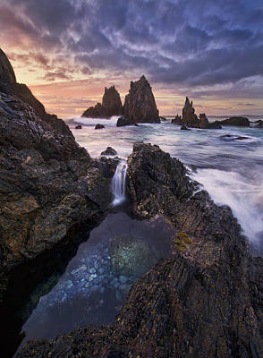 Wave Photograph - Meeting Of Waters by Yan Zhang