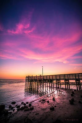 Violet Photograph - Meeting On The Pier by Marvin Spates
