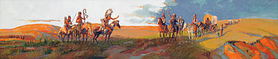 Painting - Meeting On The Plains by Joe Ferrara