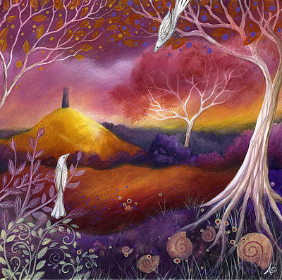 Mystical Landscape Painting - Meeting Place by Amanda Clark