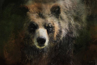 Painting - Meeting The Grizzly by Jai Johnson