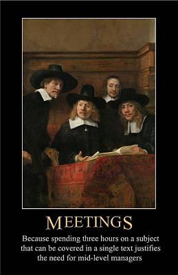 Digital Art - Meetings by John Haldane