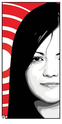 Meg White Of The White Stripes Art Print by Jeff Nichol