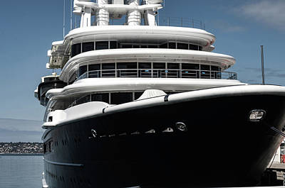 Photograph - Mega Yacht by William Kimble