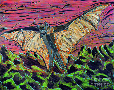 Painting - Megabat by Rebecca Weeks Howard