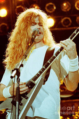 Dave Mustaine Photograph - Megadeath 93-dave-0363 by Timothy Bischoff
